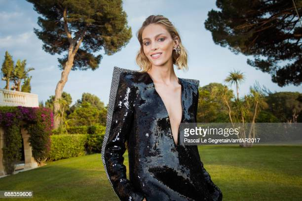 Anja Rubik attends the amfAR Gala Cannes 2017 at Hotel du CapEdenRoc on May 25 2017 in Cap d'Antibes France