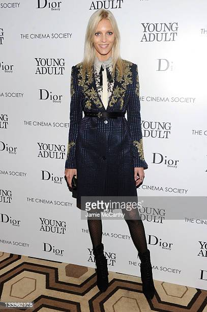 Anja Rubik attends the Cinema Society Dior Beauty screening of Young Adult at the Tribeca Grand Screening Room on November 18 2011 in New York City