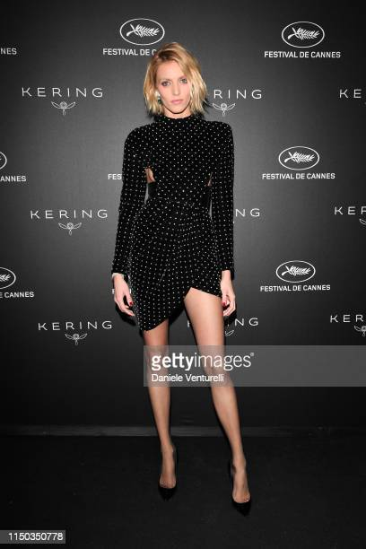 Anja Rubik attends the Kering and Cannes Film Festival Official Dinner at Place de la Castre on May 19 2019 in Cannes France
