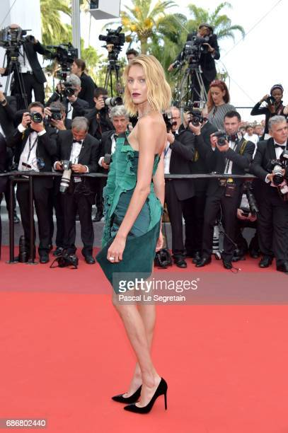 Anja Rubik attends 'The Killing Of A Sacred Deer' premiere during the 70th annual Cannes Film Festival at Palais des Festivals on May 22 2017 in...