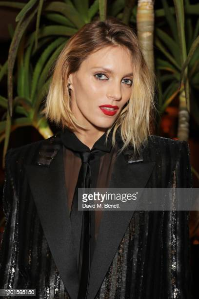 Anja Rubik attends the LOVE Magazine LFW Party celebrating issue 23 at The Standard London on February 17 2020 in London England LOVE magazine is...