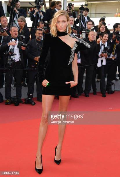 Anja Rubik attends 'The Meyerowitz Stories' screening during the 70th annual Cannes Film Festival at Palais des Festivals on May 21 2017 in Cannes...