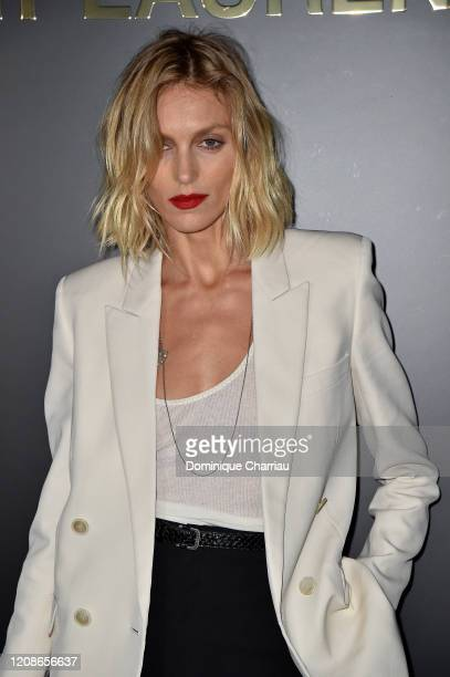 Anja Rubik attends the Saint Laurent show as part of the Paris Fashion Week Womenswear Fall/Winter 2020/2021 on February 25, 2020 in Paris, France.