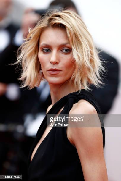 Anja Rubik attends the screening of A Hidden Life during the 72nd annual Cannes Film Festival on May 19 2019 in Cannes France