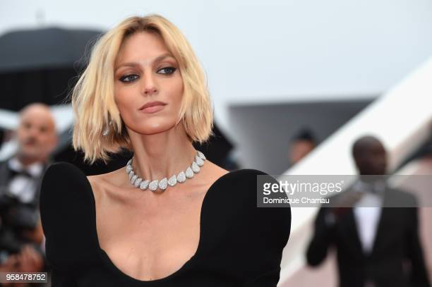 Anja Rubik attends the screening of 'Blackkklansman' during the 71st annual Cannes Film Festival at Palais des Festivals on May 14 2018 in Cannes...