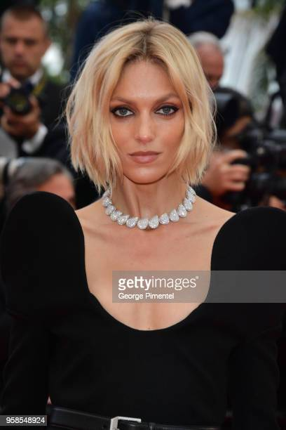 Anja Rubik attends the screening of BlacKkKlansman during the 71st annual Cannes Film Festival at Palais des Festivals on May 14 2018 in Cannes France