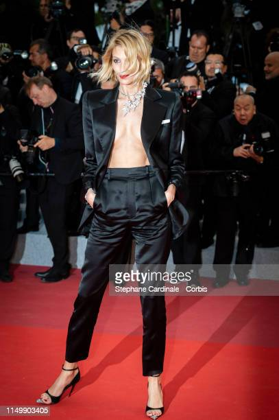 Anja Rubik attends the screening of Pain And Glory during the 72nd annual Cannes Film Festival on May 17 2019 in Cannes France