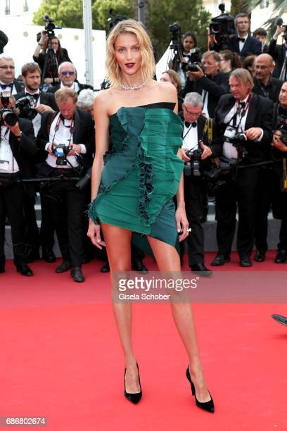 Anja Rubik attends the The Killing Of A Sacred Deer screening during the 70th annual Cannes Film Festival at Palais des Festivals on May 22 2017 in...
