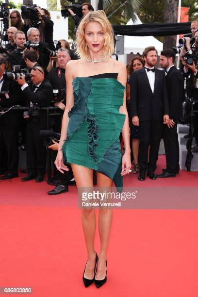 Anja Rubik attends the 'The Killing Of A Sacred Deer' screening during the 70th annual Cannes Film Festival at Palais des Festivals on May 22 2017 in...