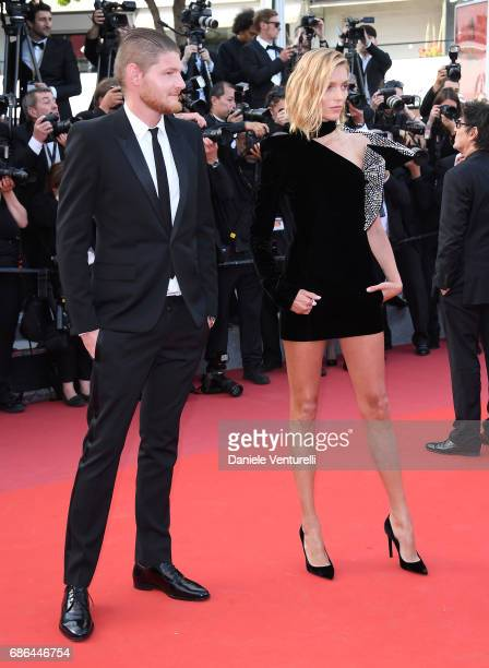 Anja Rubik attends the 'The Meyerowitz Stories' screening during the 70th annual Cannes Film Festival at Palais des Festivals on May 21 2017 in...