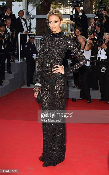 """Anja Rubik attends the """"This Must Be The Place"""" Premiere during the 64th Cannes Film Festival at the Palais des Festivals on May 20, 2011 in Cannes,..."""