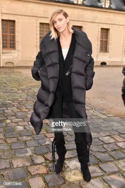 Anja Rubik attends the Valentino show as part of the Paris Fashion Week Womenswear Fall/Winter 2020/2021 on March 01 2020 in Paris France