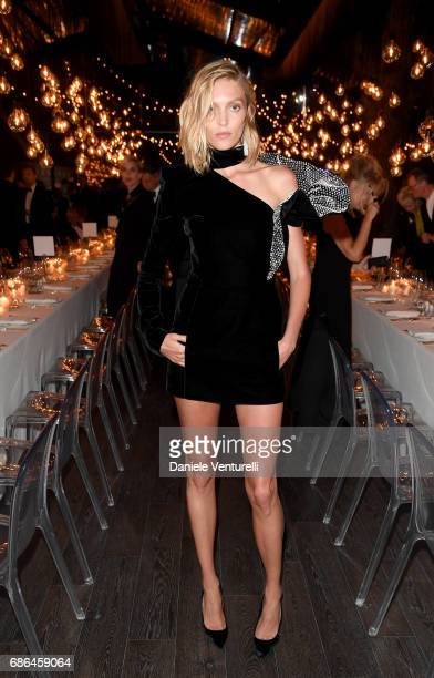 Anja Rubik attends the Women in Motion Awards Dinner at the 70th Cannes Film Festival at Place de la Castre on May 21 2017 in Cannes France