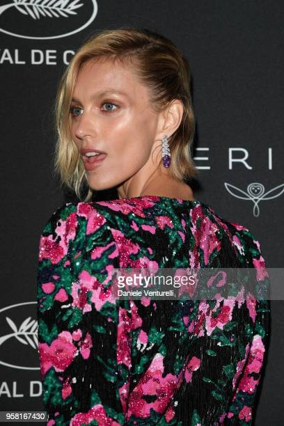 Anja Rubik attends the Women in Motion Awards Dinner presented by Kering and the 71th Cannes Film Festival at Place de la Castre on May 13 2018 in...