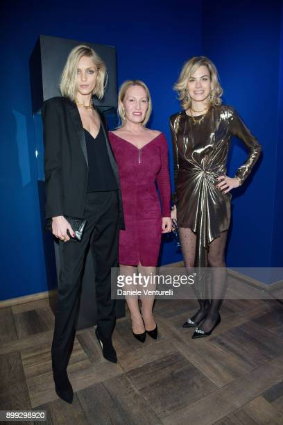 Anja Rubik Diana WidmaierPicasso and Isabelle Bscher attends Galerie Gmurzynska Hosts Diana WidmaierPicasso in Celebration of Mene 24K and Yves Klein...