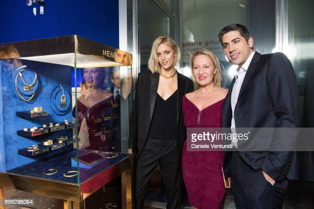 Anja Rubik Diana WidmaierPicasso and Roy Sebag attends Galerie Gmurzynska Hosts Diana WidmaierPicasso in Celebration of Mene 24K and Yves Klein on...