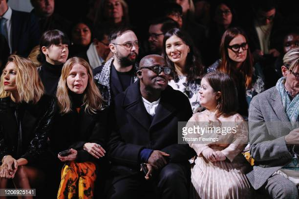 Anja Rubik Holli Rogers Edward Enninful OBE Sinead Burke and Hamish Bowles attend the International Woolmark prize 2020 during London Fashion Week...