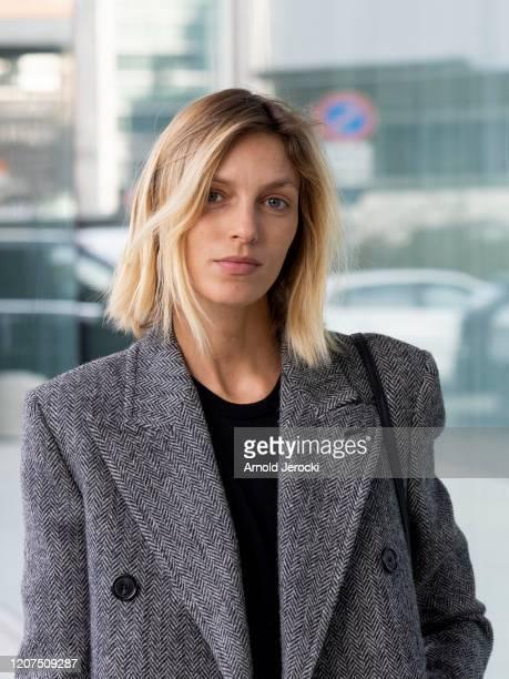 Anja Rubik is seen during Milan Fashion Week Fall/Winter 20202021 on February 20 2020 in Milan Italy