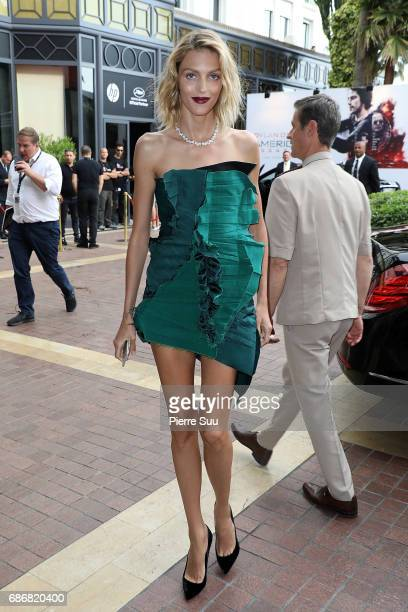 Anja Rubik is spotted at the 'Majestic' hotel during the 70th annual Cannes Film Festival on May 22 2017 in Cannes France