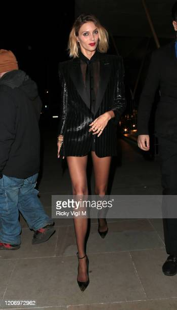 Anja Rubik seen attending LOVE Magazine party at The Standard during LFW February 2020 on February 17 2020 in London England