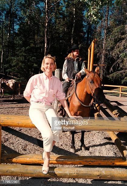 """Anja Schüte, """"Kanadische Träume"""" ZDF,;Banff/Kanada, Am Rande der Dreharbeiten,;Urlaub,"""