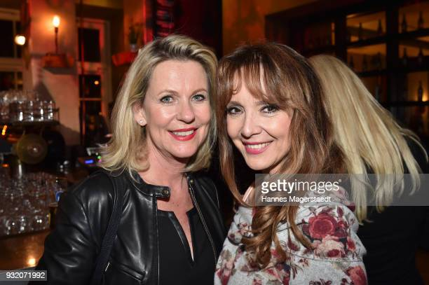 Anja Schuete and Cornelia Corba during the NdF after work press cocktail at Parkcafe on March 14 2018 in Munich Germany