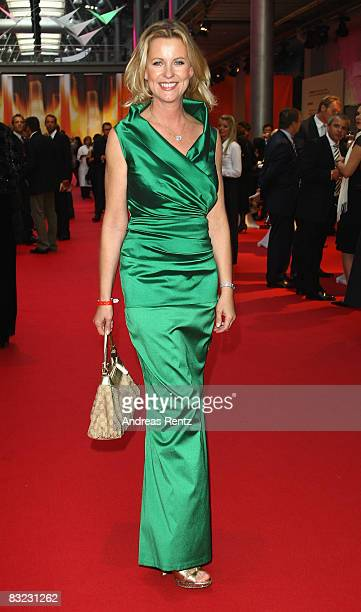 Anja Schuete arrives for the German TV Award 2008 at the Coloneum on October 11 2008 in Cologne Germany