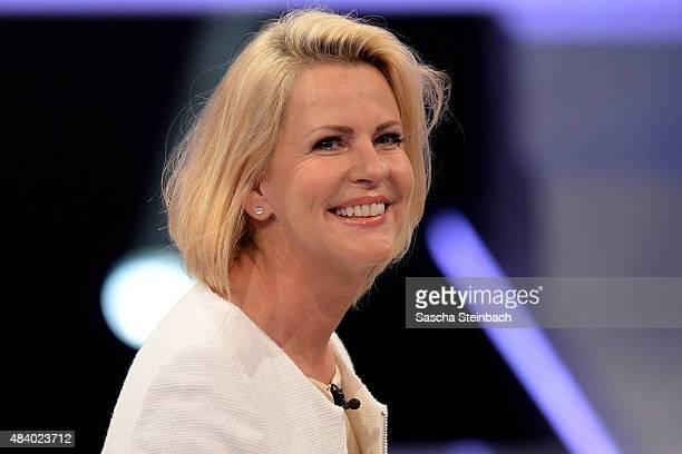 Anja Schuete attends the first live show of Promi Big Brother 2015 at MMC studios on August 14 2015 in Cologne Germany