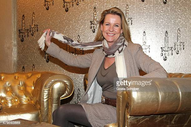 Anja Schuete attends the NDF After Work Presse Cocktail at Parkcafe on March 19 2014 in Munich Germany