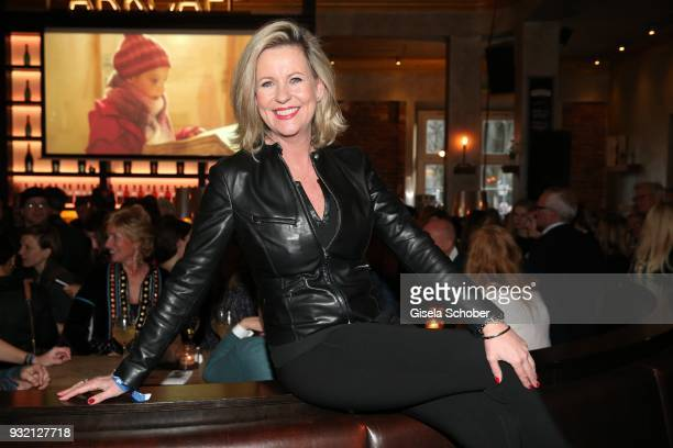 Anja Schuete during the NdF after work press cocktail at Parkcafe on March 14 2018 in Munich Germany