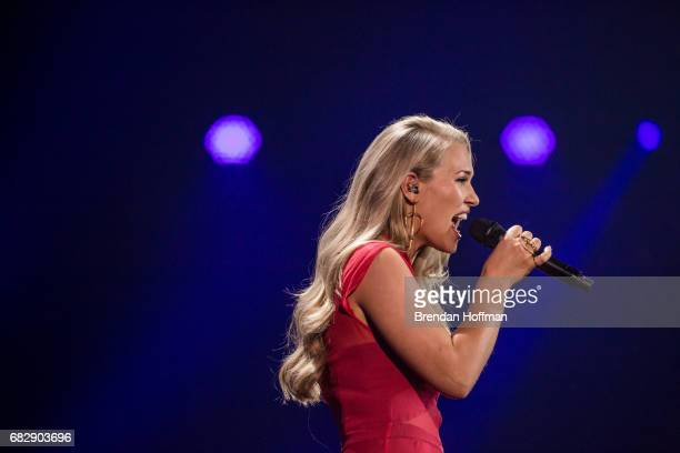 Anja the contestant from Denmark during a rehearsal for the Eurovision Grand Final on May 12 2017 in Kiev UkraineUkraine is the 62nd host of the...