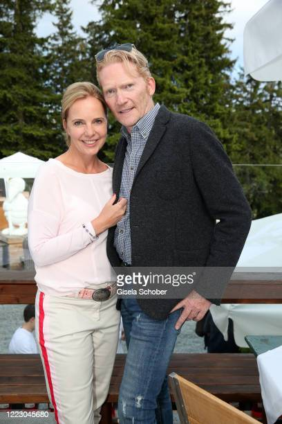 Anja Thyssen Achim Thyssen during the first Ladies Day and start of the Queens Club hosted by Maria HoeflRiesch on June 26 2020 at Berggasthof...