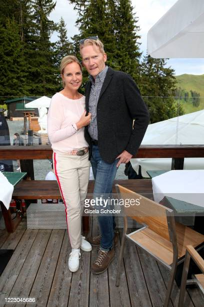 """Anja Thyssen, Achim Thyssen during the first Ladies Day and start of the """"Queens Club"""" hosted by Maria Hoefl-Riesch on June 26, 2020 at Berggasthof..."""