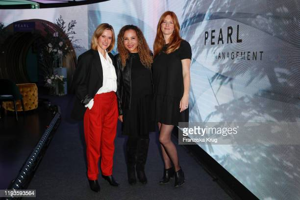 Anja Tillack Joyce Darkoh and Charlotte Kopp during the PEARL Model Management Fashion Aperitif at The Reed on January 13 2020 in Berlin Germany