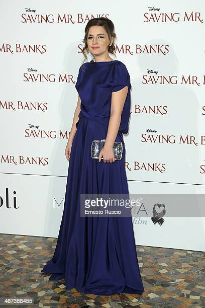 Anja Tufina attends the 'Saving Mr Banks' premiere at The Space Moderno on February 6 2014 in Rome Italy