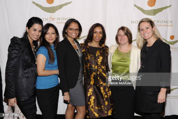 Anjali Nelly Nowroozi Jennifer Zephrin Dawn Marie Grannum Erin Wolfe and Leigh Boyko attend WOMEN FOR WOMEN GALA at Chelsea Piers on November 9 2010...