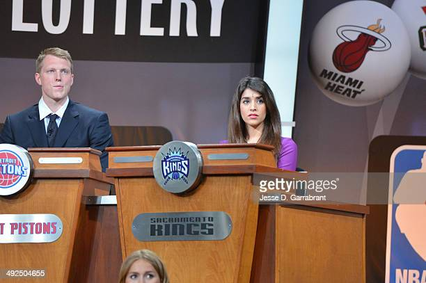 Anjali Ranadive of the Sacramento Kings during the 2014 NBA Draft Lottery on May 20 2014 at the ABC News' 'Good Morning America' Times Square Studio...