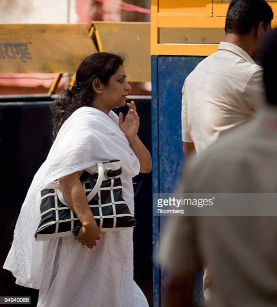 Anjali Waghmare the lawyer representing Mohammed Ajmal Kasab exits Arthur Road Jail after being removed from the case in Mumbai India on Wednesday...