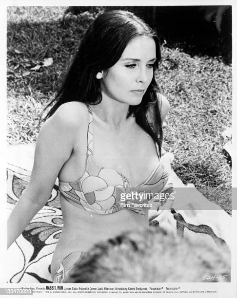 Anjanette Comer in a bathing suit in a scene from the film 'Rabbit Run' 1970