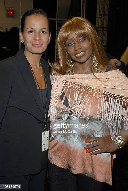 Anjanette Spreen and Janice Combs during Olympus Fashion Week Spring 2005 Vivid Collection Diamond Jewelry on Gottex Runway at Theater Tent Bryant...
