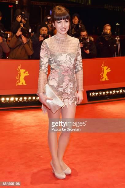Anjela Nedyalkova attends the 'T2 Trainspotting' premiere during the 67th Berlinale International Film Festival Berlin at Berlinale Palace on...