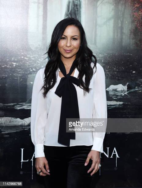 Anjelah Johnson arrives at the premiere of Warner Bros' The Curse Of La Llorona at the Egyptian Theatre on April 15 2019 in Hollywood California