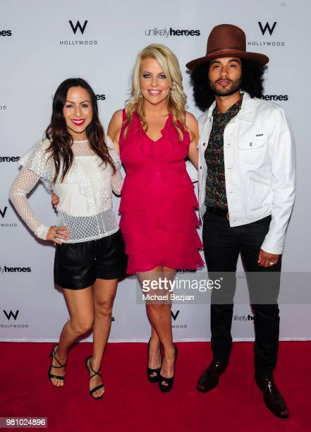 Anjelah Johnson Erica Greve Manwell Reyes attend Nights of Freedom LA on June 21 2018 in Hollywood California