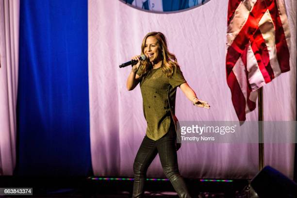 Anjelah Johnson performs during KROQ Presents Kevin Bean's April Foolishness 2017 at The Shrine Auditorium on April 1 2017 in Los Angeles California