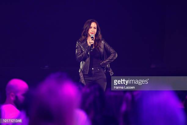 Anjelah Johnson speaks at the Move In The City at Royal Hall of Industries Moore Park on August 15 2018 in Sydney Australia