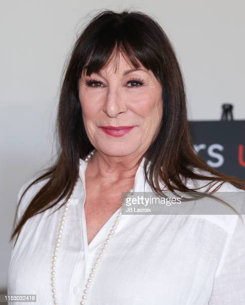 Anjelica Houston attends 70th birthday party for PETA President Ingrid Newkirk hosted by Anjelica Houston at Plant Food Wine on June 30 2019 in...