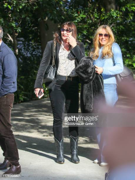 Anjelica Huston and Alana Stewart are seen on February 23 2019 in Los Angeles California