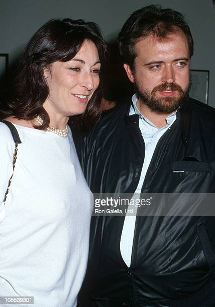 Anjelica Huston and Chuck Warren during Memorial for John Huston September 12 1987 at Director's Guild in Los Angeles California United States