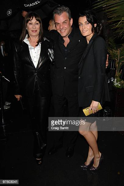 Anjelica Huston and Danny Huston arrive at the Chanel And Charles Finch PreOscar Party Celebrating Fashion And Film at Madeo Restaurant on March 6...