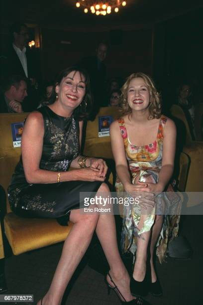 Anjelica Huston and Drew Barrymore at the Teatro Odeon